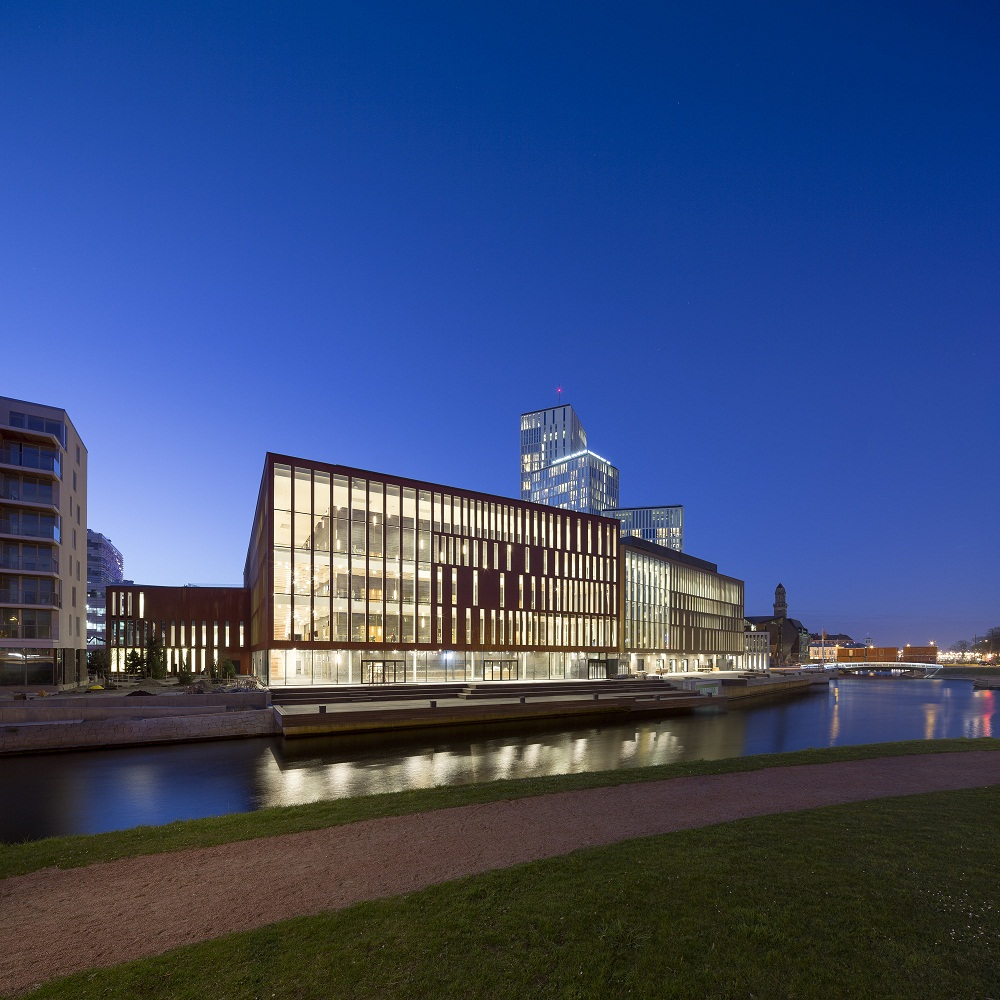 ساختمان کنسرت Malmö Live  ، شهر در داخل شهر