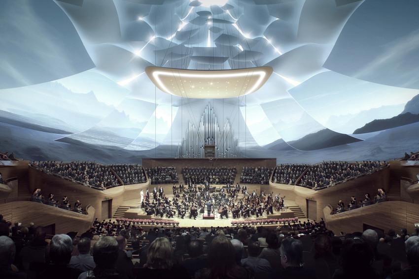 طراحی معماری سالن ارکستر فیلارمونیک در چین