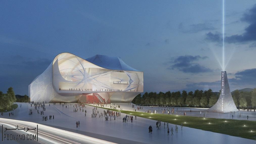 طراحی مرکز هنرهای نمایشی سجنگ در کره جنوبی  / استودیوی معماری Asymptote Architecture