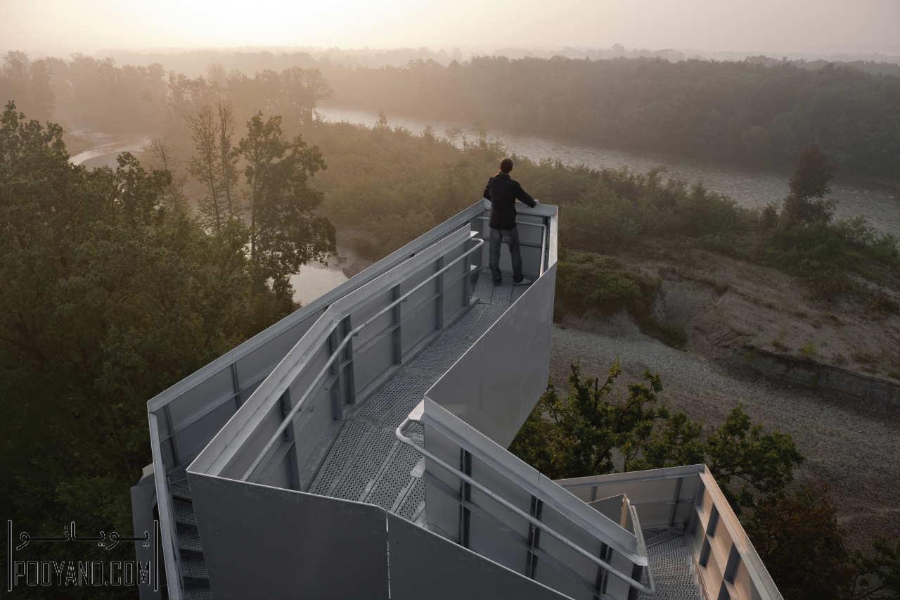 طراحی برج دیدهبانی در حاشیه رودخانه مور / گروه معماری loenhart&mayr