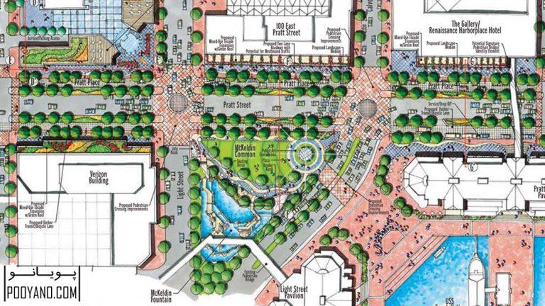 Pratt Street, site plan