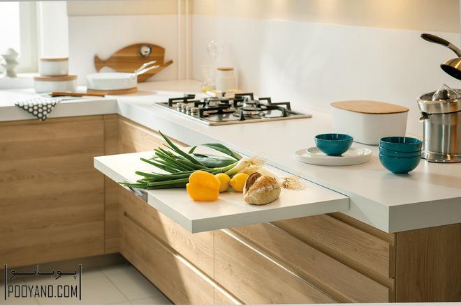 بزرگ نشان دادن آشپزخانه کوچک