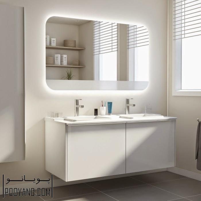ایدههای شگفت انگیز نورپردازی با چراغ دیواری و چراغ سقفی حمام و سرویس