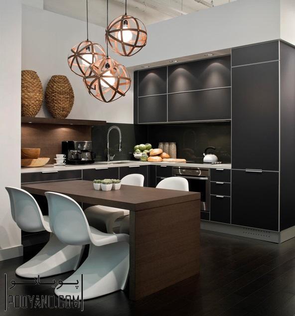 مدل کابینت آشپزخانه مدرن ؛ طراحی و اجرای کابینت آشپزخانه مدرن ؛ انواع کابینت آشپزخانه مدرن