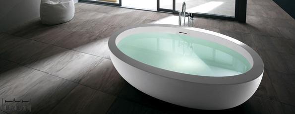 مدل وان حمام با طراحی خلاقانه و کارآمد از شرکت ایتالیایی Teuco ؛ طراحی انواع وان حمام