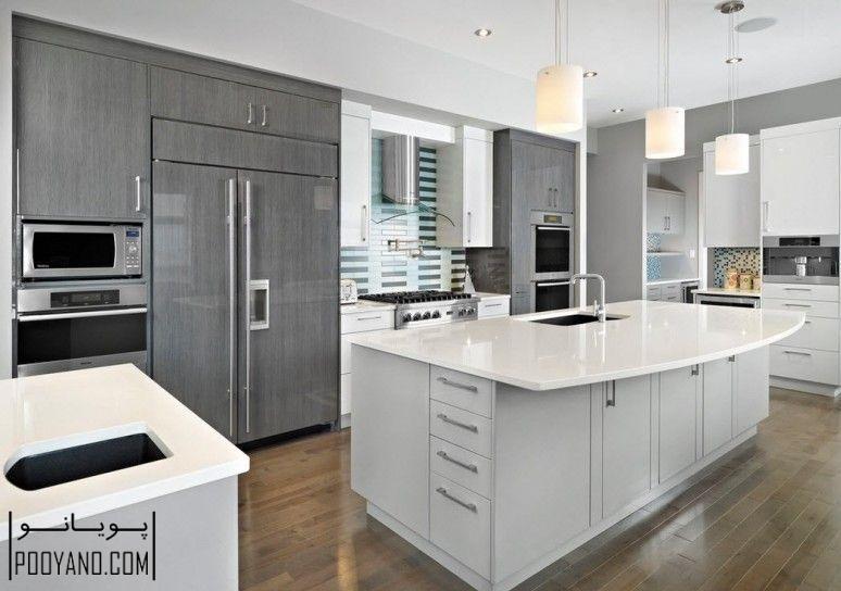 کابینت براق کابینت های گلاس برای آشپزخانه مدرن