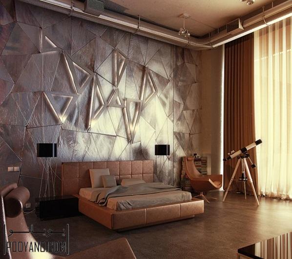 تکسچر های دیواری ؛ ایده طراحی دکوراسیون داخلی با تکسچر دیوار ، طراحی 3D دیوار