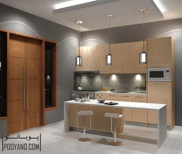 چیدمان و دیزاین میز بار آشپزخانه