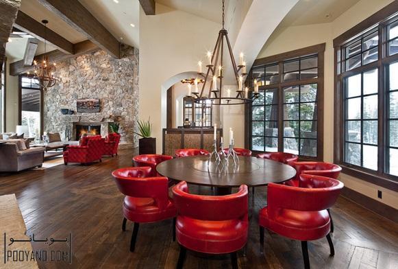 میز گرد زیبا و تماشایی برای اتاق ناهارخوری و آشپزخانه ؛ میز گرد غذا خوری