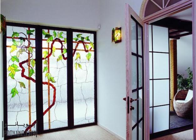 شیشه ویترای ؛ 30 ایده مدرن برای استفاده از شیشههای رنگ آمیزی شده یا شیشه ویترای در دکوراسیون