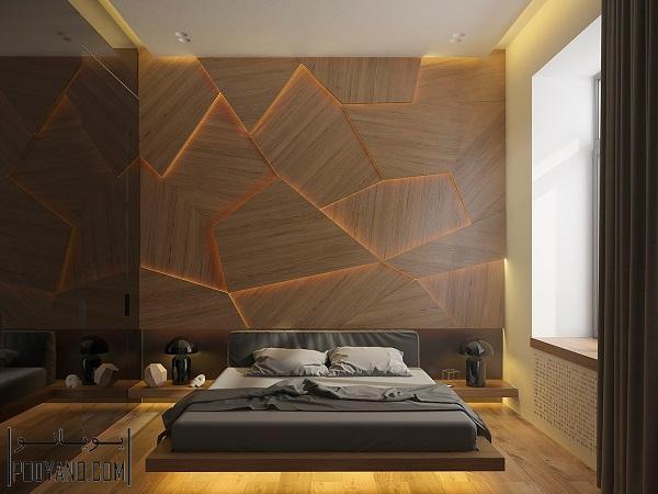 شناور کردن تخت خواب با نورپردازی