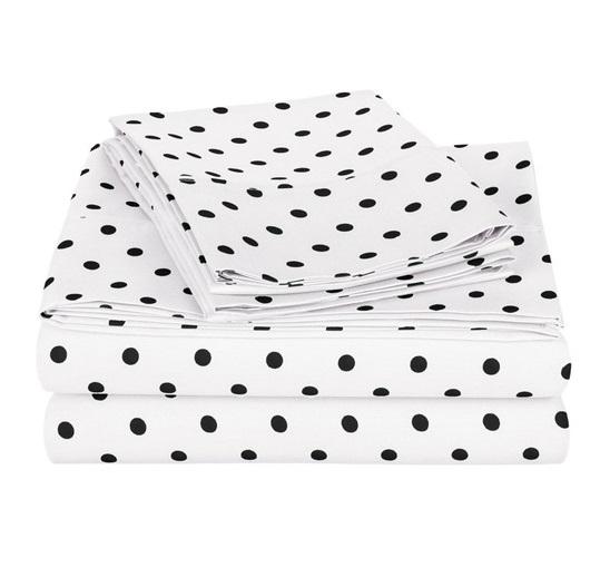 ست روبالشی و ملافه نخی مدل خال خالی Polka Dot