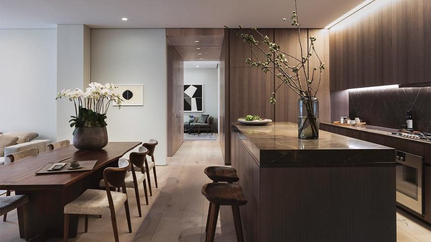 طراحی داخلی هتل آپارتمان ۶ میلیون دلاری در خیابان ۱۵۲ Elizabeth / معماری تادائو آندو