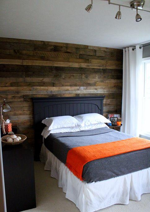 مدل کاغذدیواری طرح چوبی در اتاق خواب