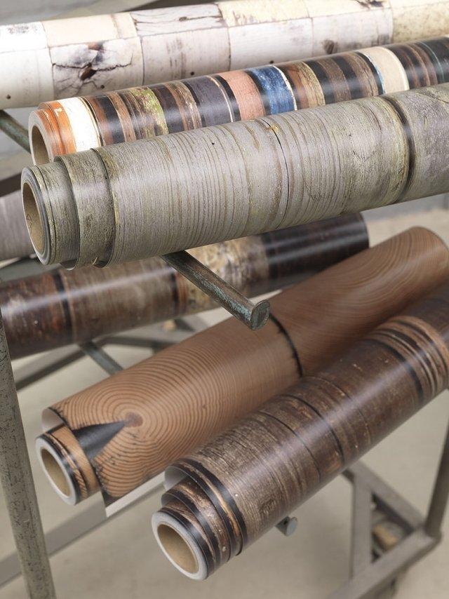رول کاغذدیواری طرح چوبی