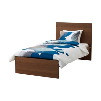 تخت خواب یک نفره قهوه ای ایکیا مدل MALM