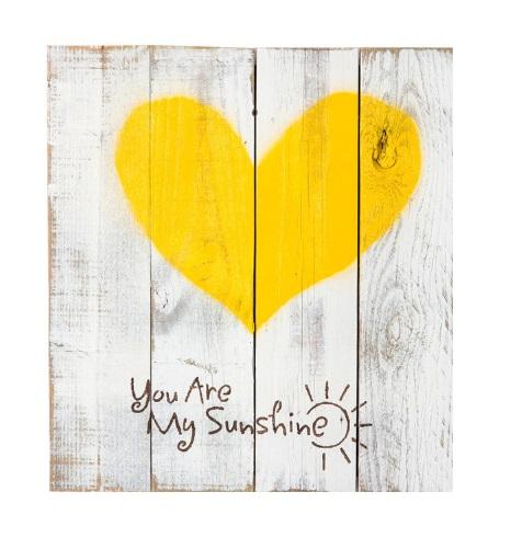 تابلو چوبی پتینه طرح قلب