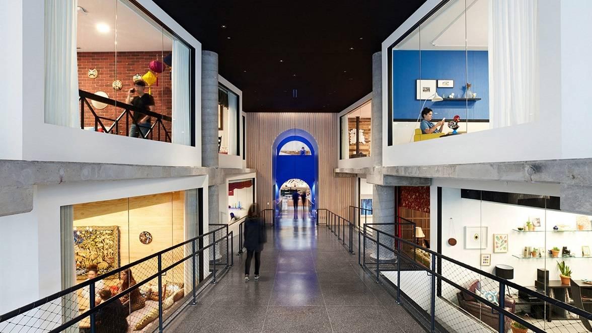 طراحی داخلی دفتر مرکزی اجاره خانه Airbnb در سانفرانسیسکو