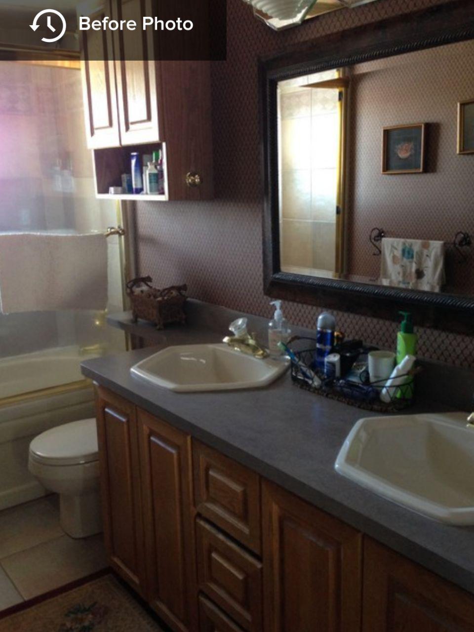 قبل و بعد تغییرات دکوراسیون حمام  های کوچک