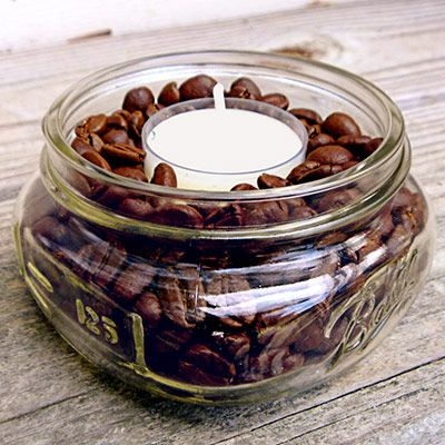 شمع های تزئینی با دانه های قهوه و توصیه هایی برای استفاده آنها برای دکوراسیون منزل