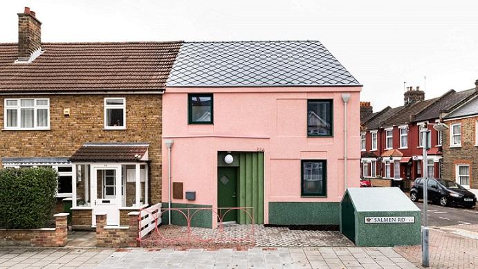 نمای خانه سبز و صورتی ، الگویی برای بازار املاک استیجاری لندن / گروه معماری S&M