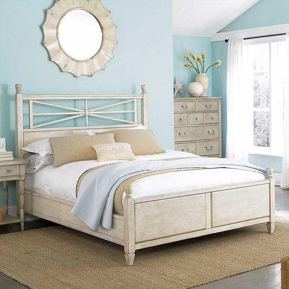 رنگ آبی و کرم در اتاق ها با ایده های الهام بخش