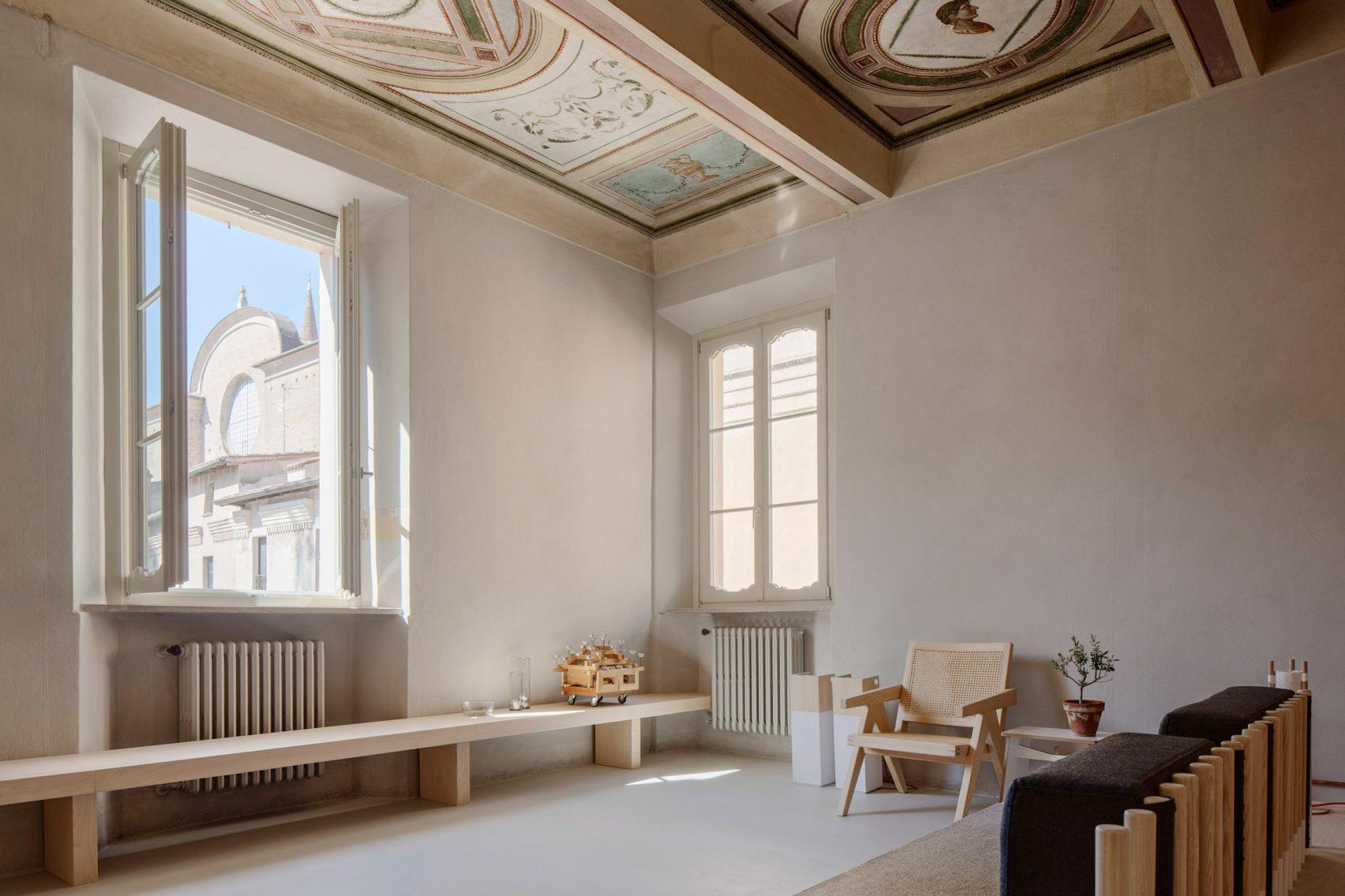 نقاشی محو هنرمندانه در بازسازی خانه ایتالیایی قرن پانزدهم / طراحی داخلی Archiplan