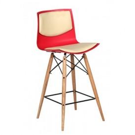 صندلی بار سهیل مدل صدفی چرم