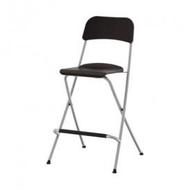 صندلی بار تاشو مشکی ایکیا مدل FRANKLIN
