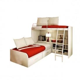 تخت دو طبقه MDF مدل DRKB-180