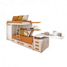 تخت دو طبقه MDF مدل DRKB-200