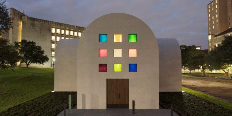 پنجره های رنگی در پاویلیون مینیمال آستین/ Ellsworth Kelly