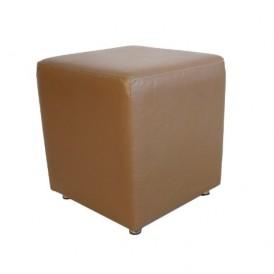 مبل پاف سهیل مدل مکعبی چرمی قهوه ای