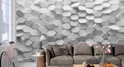 کاغذ دیواری سه بعدی در طراحی دکوراسیون داخلی