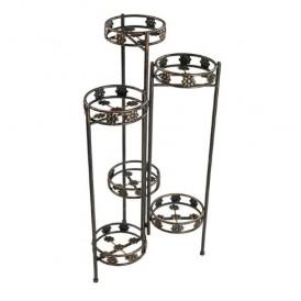 پایه طبقاتی گلدان فلزی