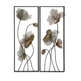 اثر هنری فلزی دیواری طرح گل