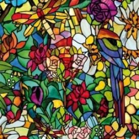 برچسب شیشه رنگی طرح بهار