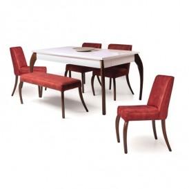 میز و صندلی غذاخوری ۶ نفره کمجا چوب مدل فلورا