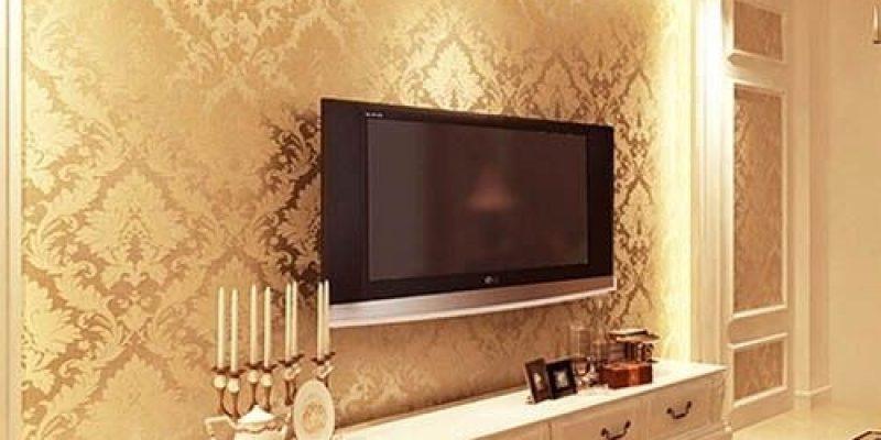 مدل کاغذ دیواری پشت تلویزیون در دکوراسیون داخلی