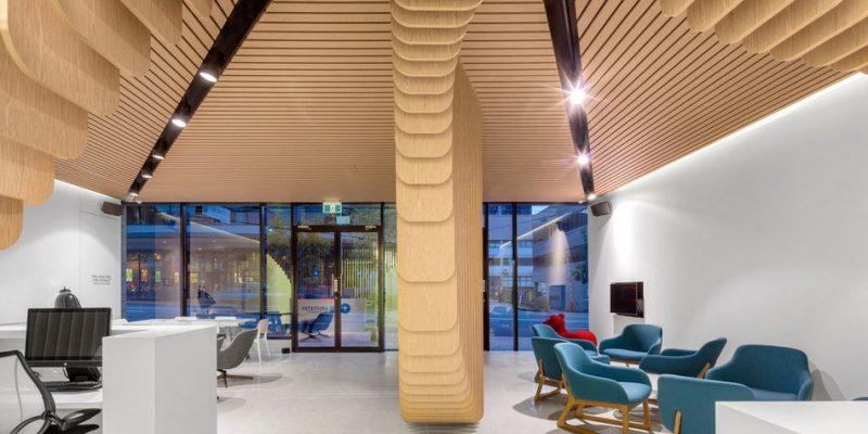 کلینیک دندان پزشکی با معماری چوب معاینات پزشکی