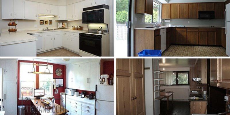 ۱۳ نمونه بازسازی و بازطراحی آشپزخانه و کابینت آشپزخانه قدیمی و از مد افتاده