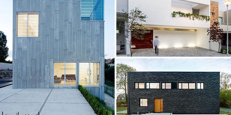 ۱۲ طراحی نمای خانه مدرن و مینیمال از سراسر جهان