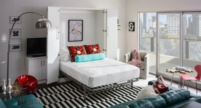 تخت خواب تاشو دیواری : ایده هایی در مورد اینکه چگونه و کجا از تخت کمجا در خانه استفاده کنید