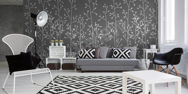 مدل کاغذ دیواری سیاه و سفید در طراحی دکوراسیون داخلی