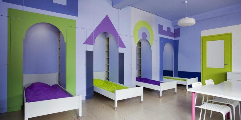 طراحی داخلی و بازسازی یک خوابگاه برای مرکز توانبخشی کودکان