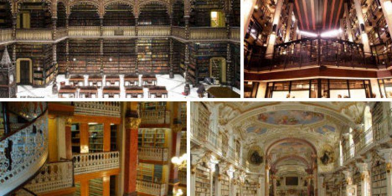 بررسی ۱۴ مورد معماری داخلی کتابخانه تاریخی