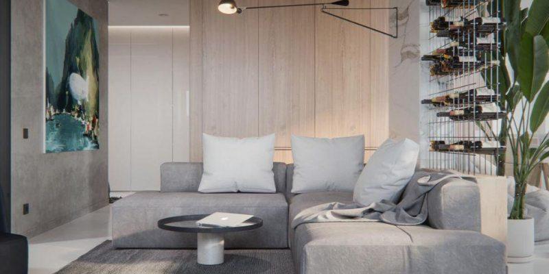 طراحی منزل برای زوج جوان ، سفید و هنری