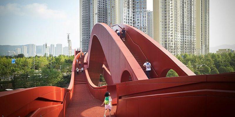 طراحی پُل lucky knot در چین / معماران NEXT