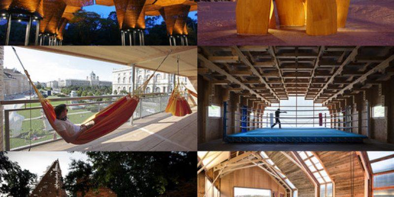 متریال در معماری: ۱۰ پروژه که از چوب ساخته شده اند
