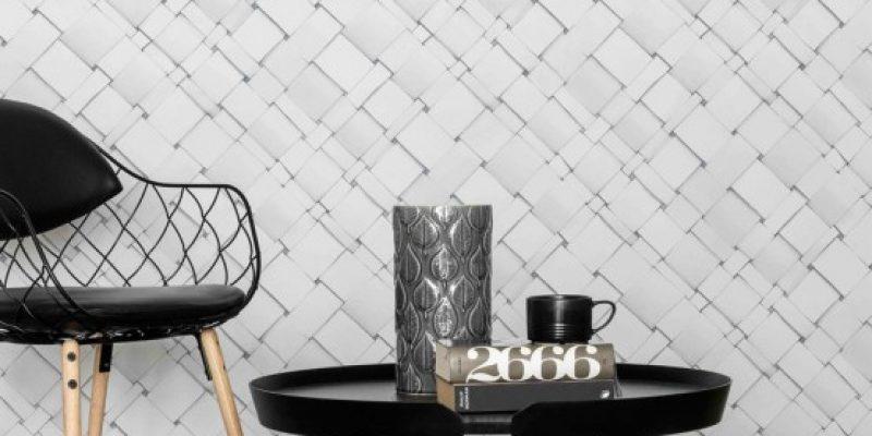 کاغذ دیواری سه بعدی مینیمال در طراحی دکوراسیون منزل
